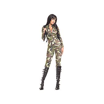 Be Wicked BW1600 2 Piece Tantalising Trooper Jumpsuit and a holster