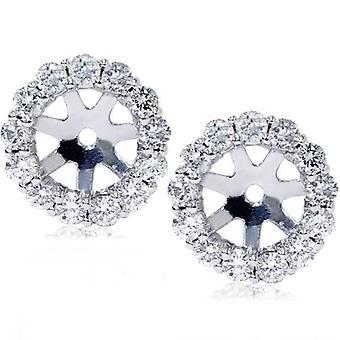 14K or blanc 1/2 c. Diamond Boucles d'oreilles vestes