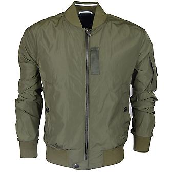 Hugo Boss Black Cute Bomber Style Zip Up Khaki Jacket