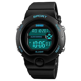 SKMEI Boys Black Digital With Blue Markers Watch 50m Water Resistant With Stopwatch Alarm Perfect For Ages 5-13 DG1334B