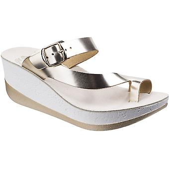 Fantasy Womens/Ladies Felisa Buckle Up Summer Platform Wedge Sandals