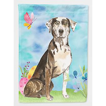 Easter Eggs Catahoula Leopard Dog Flag Canvas House Size