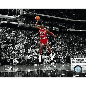Michael Jordan 1988 NBA Slam Dunk Contest Action Spotlight Photo Print