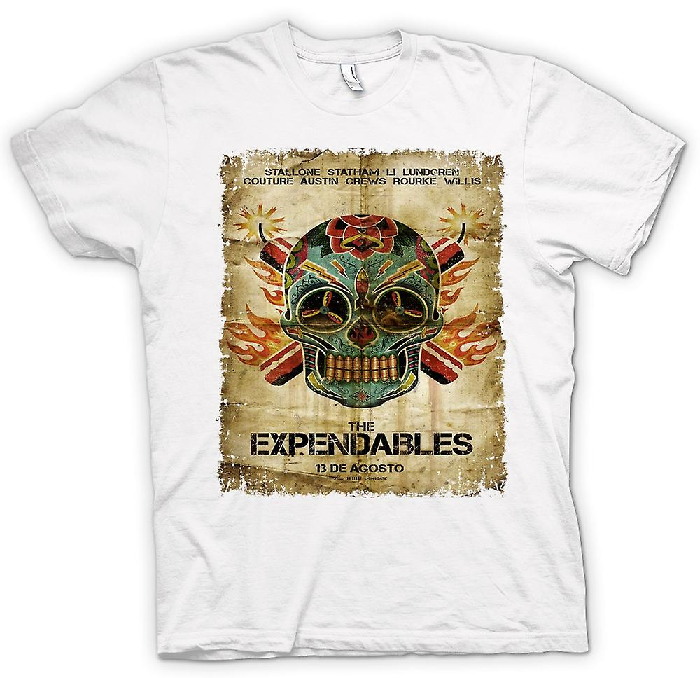 Womens T-shirt-de Expendables - B-Movie - Poster
