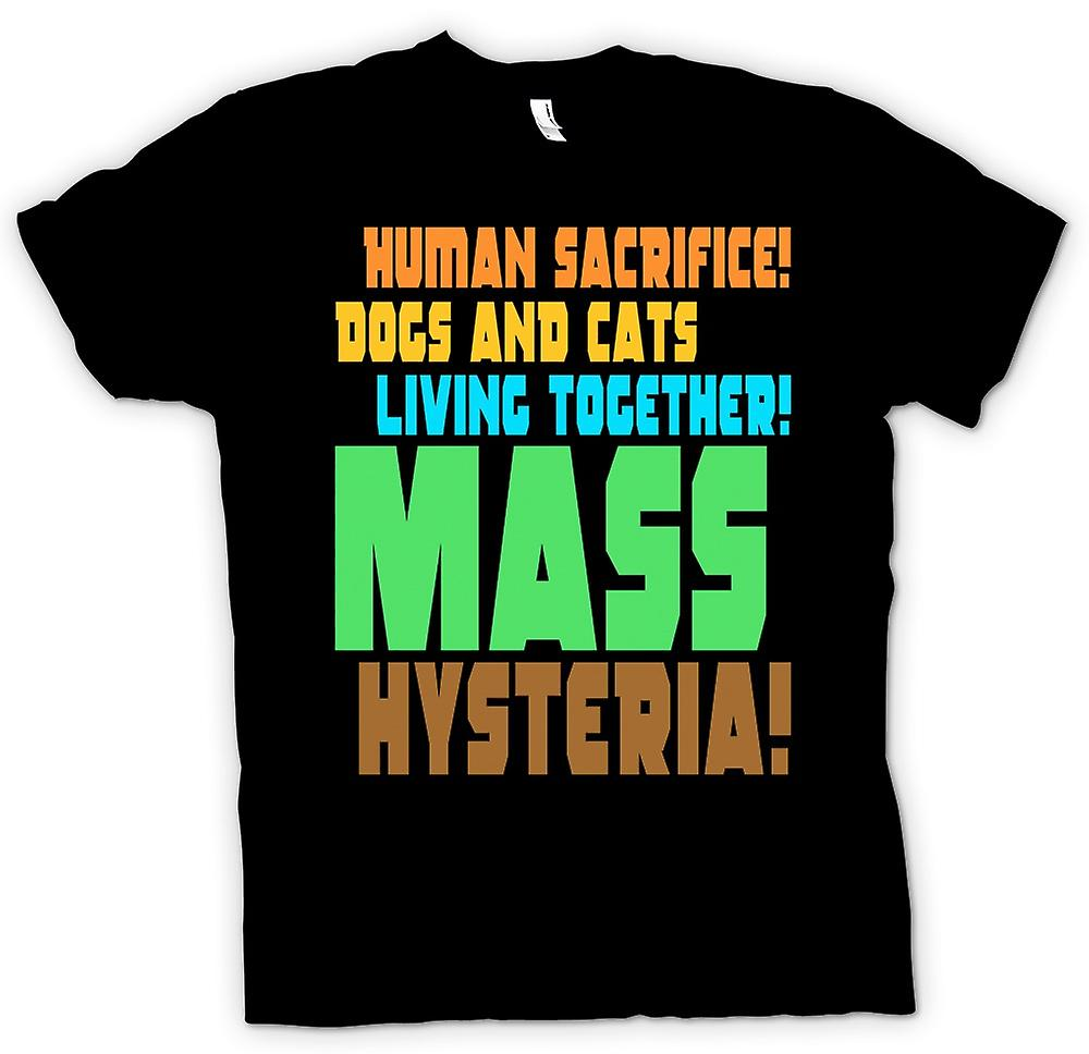 Mens T-shirt - Human sacrifice! - Funny Quote