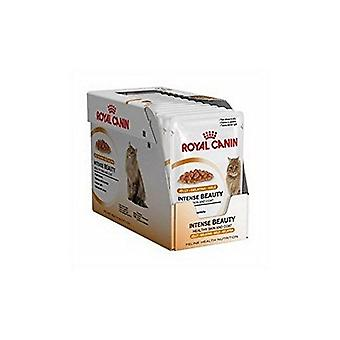 Royal Canin Intense Beauty Gravy Cat Food 12 x 85g (1.02kg) (Pack of 2)