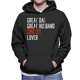 Great Dad Great Husband Cricket Lover Men's Hooded Sweatshirt