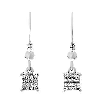 Orphelia Silver 925 Earring Square With Zirconium  ZO-7344