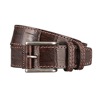 OTTO KERN belts men's belts leather belt dark brown 2967
