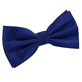 Azul sólido Compruebe pre-atado pajarita