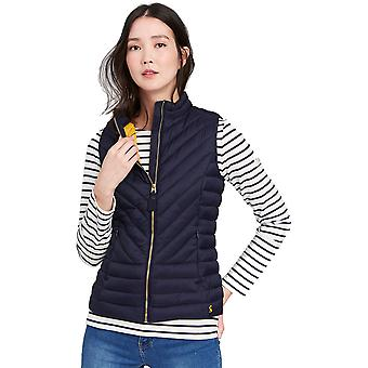 Joules Womens/Ladies Brindley Chevron Quilted Warm Bodywarmer Gilet