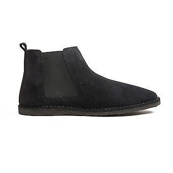 Pretty Green Suede Chelsea Boot Black