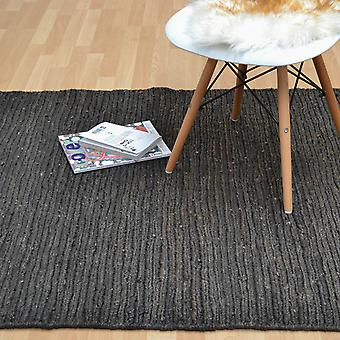 Jute Soumak Rugs In Charcoal