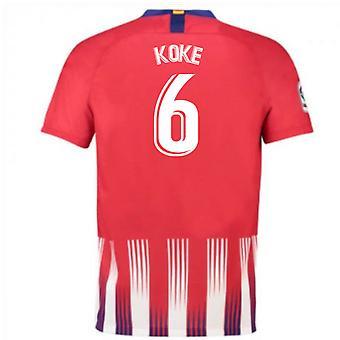 2018-2019 Atlético de Madrid em casa camisa de futebol Nike (Koke 6) - crianças
