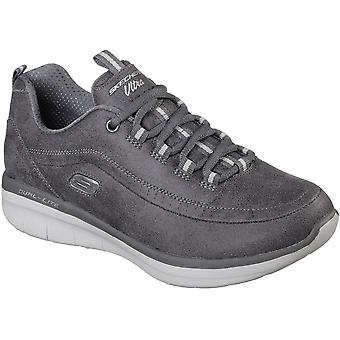 Skechers Womens Synergy 2.0 Lace Up Leather Sports Trainers