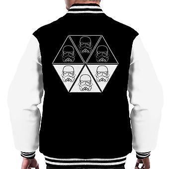 Original Stormtrooper Helmet Line Art Hexagon Men's Varsity Jacket