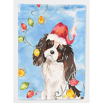 Christmas lys Tricolor Cavalier Spaniel flagg hage størrelse