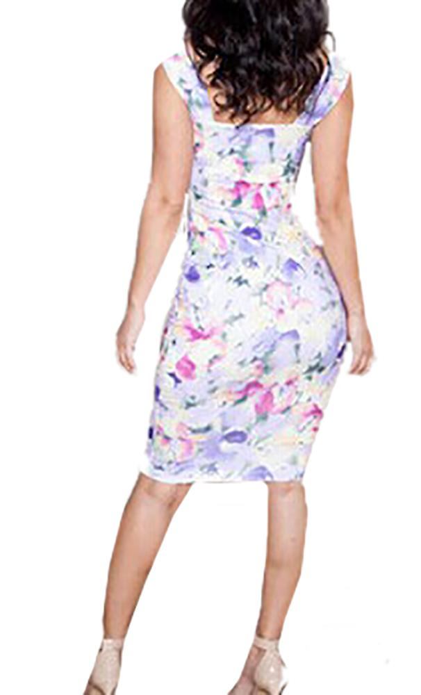 Waooh - Kleid-Muster Blumen Sij