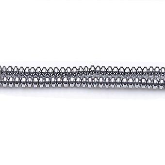 100 + الهيماتيت الفضية زاهية 3x4mm (غير المغناطيسية) الصحن رونديلي حبات GS19791