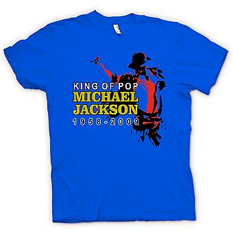 قميص رجالي-مايكل جاكسون ملك البوب-جديد