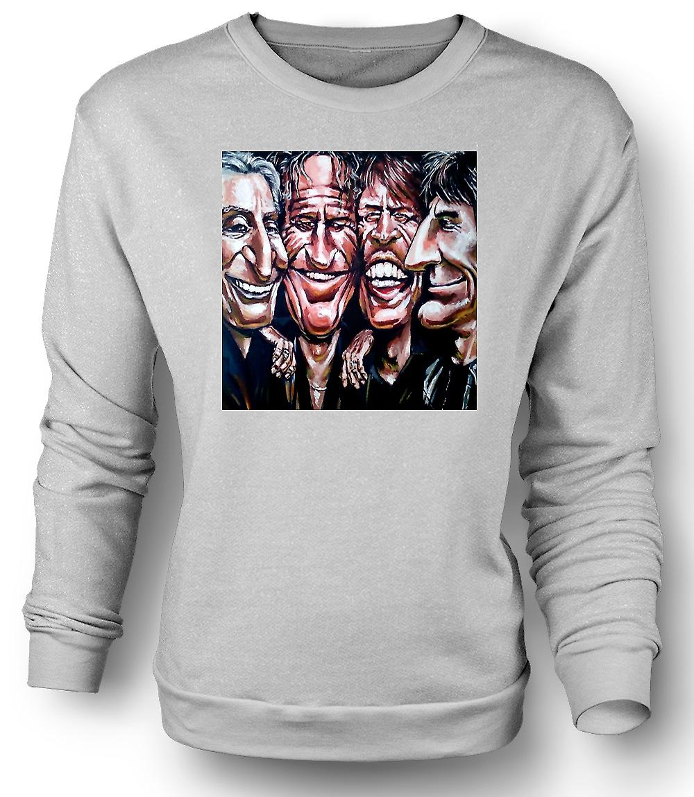 Band dei Rolling Stones - Cartoon - Mens Sweatshirt