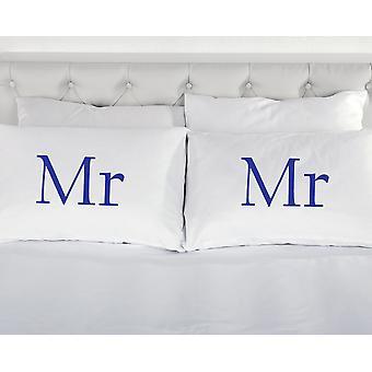 الأبيض مع السيد الأزرق ووسادات السيد