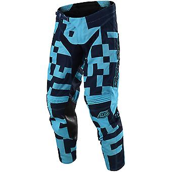 Troy Lee Designs Turquoise-Navy 2018 GP Air Maze Kids MX Pant