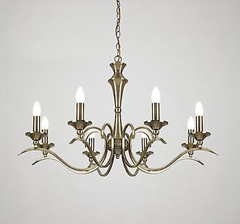 Endon KORA-8AB 8 Light Chandelier With Antique Brass Finish