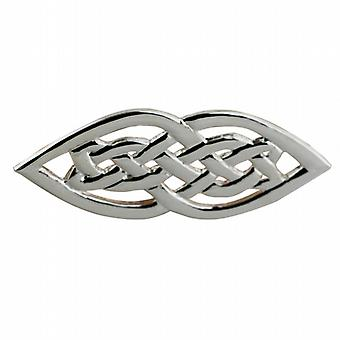 Silver 21x40mm Celtic knot brooch