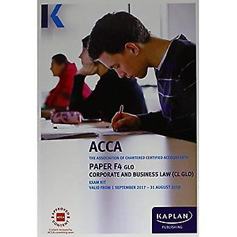 F4 Corporate and Business Law - Exam Kit