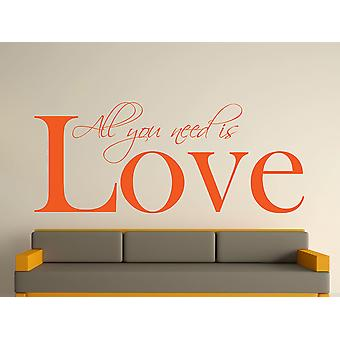 All You Need Wall Art Sticker - Orange