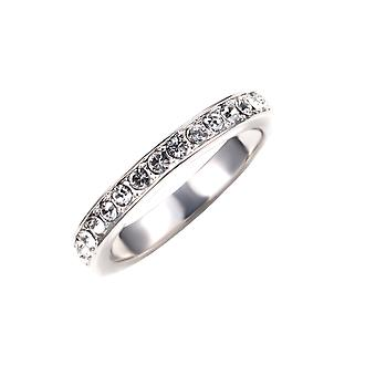Alliance ring adorned with crystal by Swarovski White