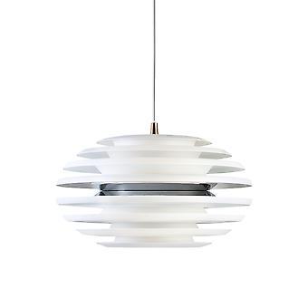 Belid - ovaal LED hanger licht Matt wit, chroom afwerking 114962