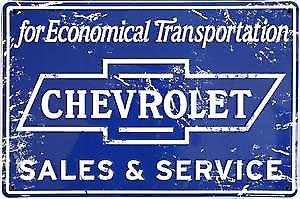 Chevrolet Sales & Service aluminium sign    (41)