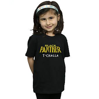Marvel Girls Black Panther AKA T'Challa T-Shirt