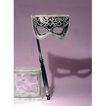 Mascarada máscara veneciana plata
