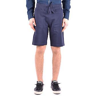 Shorts de algodão azul Aeronautica Militare