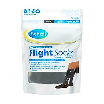 Scholl Flight Socks Cotton Feel 3-6 1 Pair
