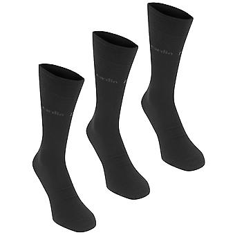 Pierre Cardin Mens 3 Pack Plain Socks