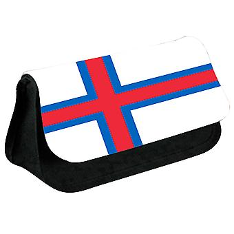 Faroe Islands Flag Printed Design Pencil Case for Stationary/Cosmetic - 0211 (Black) by i-Tronixs
