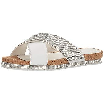 Kenneth Cole REACTION Women's Shore-Ly Slip Slide X-Band Straps Flat Sandal