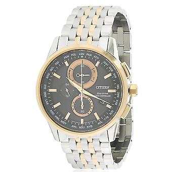Citizen Eco-Drive World Chronograph A-T Mens Watch AT8116-57E