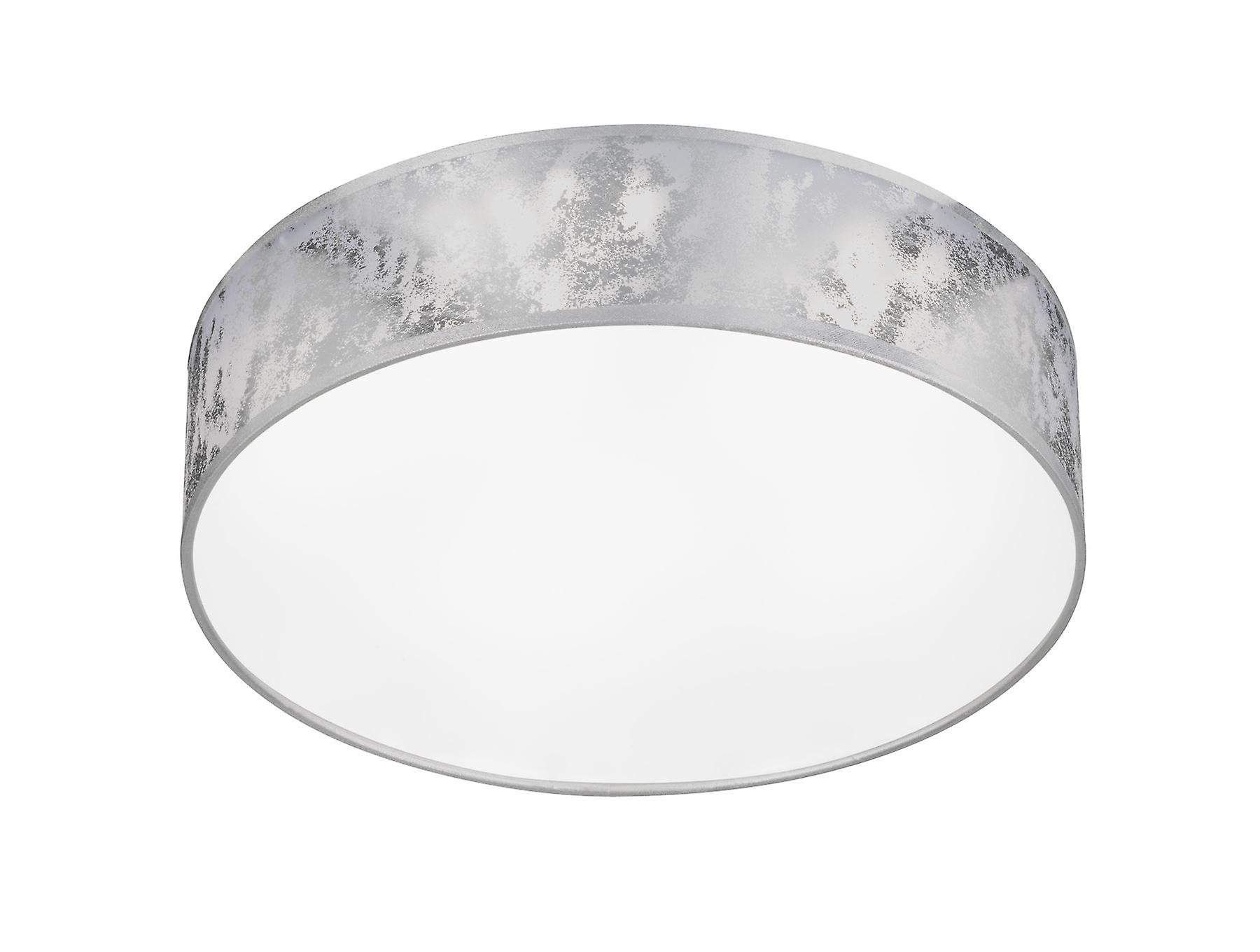Wofi Leika - LED 1 lumière Flush Plafond lumière argent - 9370.01.70.7000