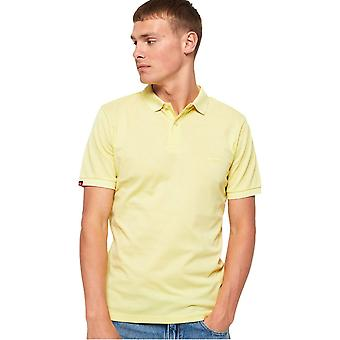 Superdry Classic Micro Pique Polo Shirt Yellow 07