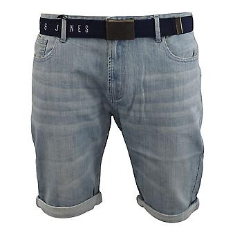 Mens denim korte smith en jones belted redfield