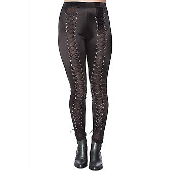 Banned Apparel Lace Up Satin Leggings