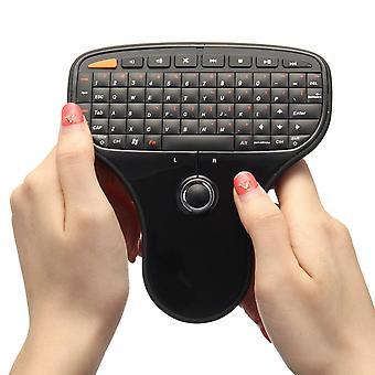 N5901 2.4ghz mini teclado inalámbrico trackball ratón de aire