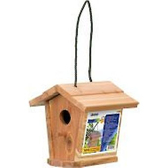 Stocker garden Tiffi - Wooden House Bird 17 X 17 Xh 17,5 Cm