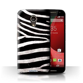 STUFF4 Phone Case / Cover for Motorola Moto G 4G 2015 / Zebra Design / Animal Fur Effect/Pattern Collection