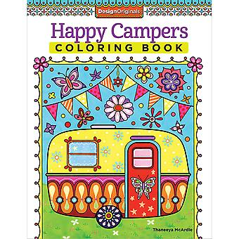 Design Originals-Happy Campers Coloring Book DO-5500